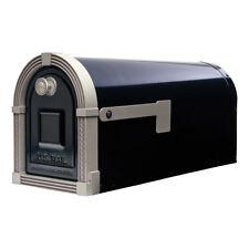 "NEW Quality 6.6/"" x 9/"" x 21/"" Black Metal Post-Office Mount Mailbox Small Mail Box"
