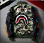 Men-BAPE-Japan-Shark-Head-Flight-Bomber-Coat-Zip-Aape-Jacket-MA1-Army-Camouflage thumbnail 1