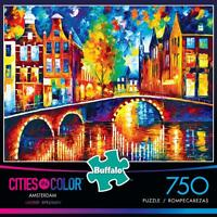Buffalo Games Cities In Color Puzzle Amsterdam Leonid Afremov Pcs 17113