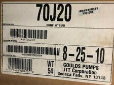 Goulds 70j20 6 Submersible 17 Stages 20 Hp 2 Npt Wet End Only
