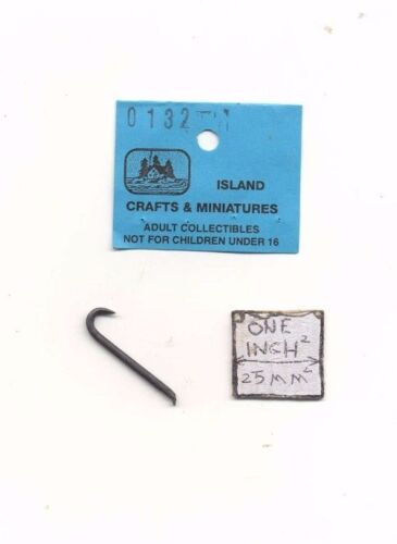 1//12 scale cast metal dollhouse miniature ISL0132 Crowbar