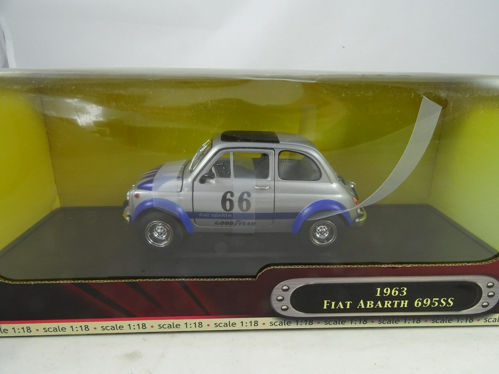 Road Signature  92338-2018 Fiat Abarth 695SS 66 Plata/Azul - Rareza