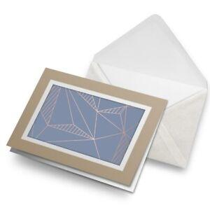 Greetings-Card-Biege-Blue-Geometric-Art-Deco-Triangles-21579
