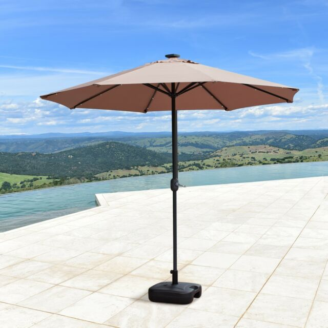 Supernova 9ft Solar 24 Led Lights Patio Umbrella Garden Outdoor