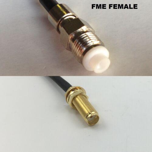 RG316 FME FEMALE to SMA Female Long Coaxial RF Cable USA-US