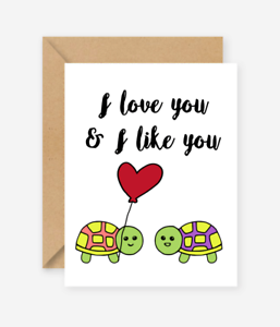 Sweet card Friends of Henry I love you and I like you Love Birthday card