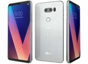 Unlocked New LG V30 H931 64GB AT&T GSM World Phone - Silver & Black Color