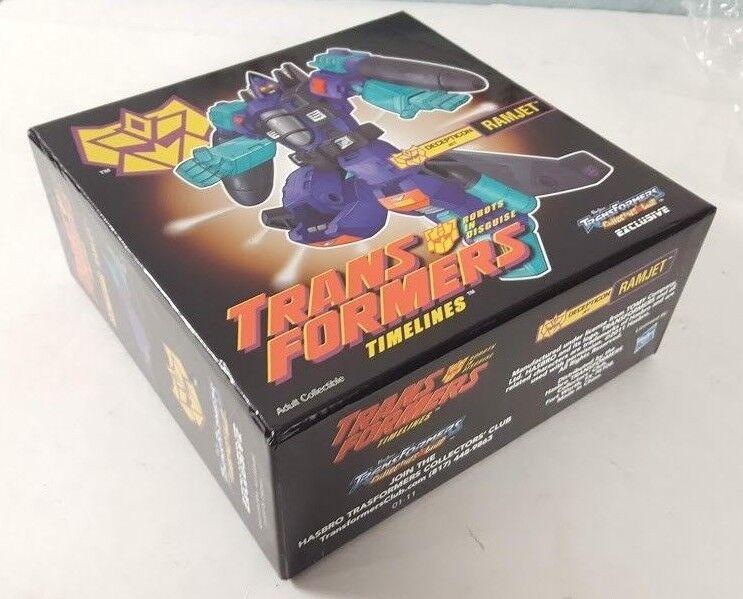 2011 Transformers Collectors's Club TCC TIMELINES RAMJET RAMJET RAMJET Deluxe Hasbro New BOXED 88b