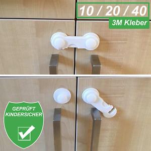 20 Stk Kindersicherung Schublade Schrankschloss Schubladensicherung DE 10 6
