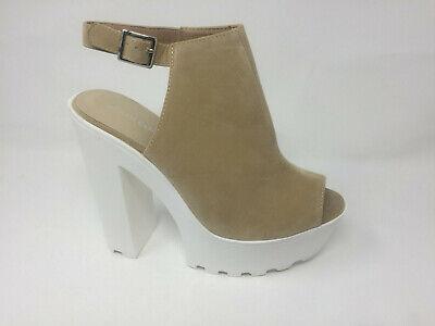 Ladies Koi Couture Black Chunky Heels Women/'s High Heels