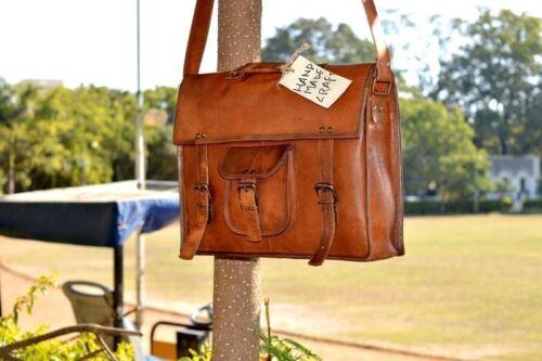 Leather messenger bag laptop bag Work computer shoulder bag for men /& women