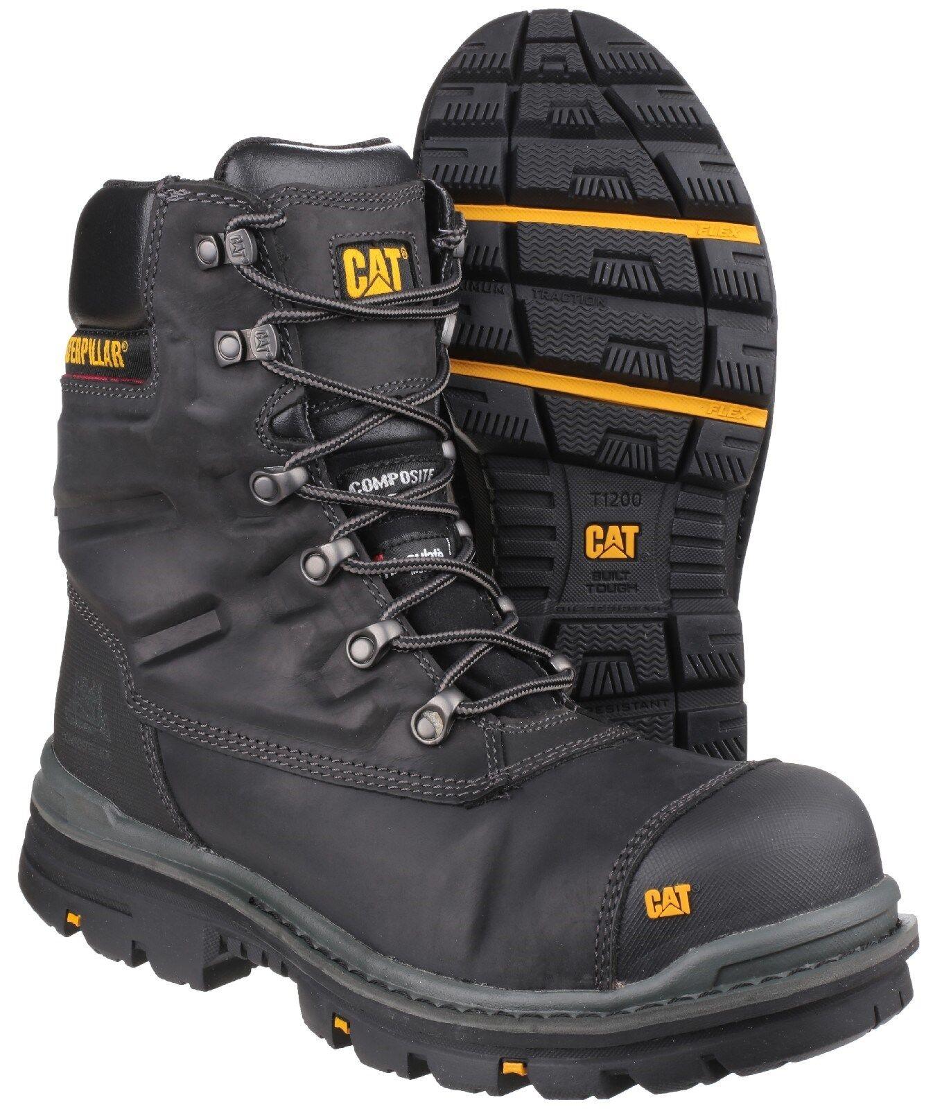 CAT Caterpillar Premier Premier Premier Resistente all'acqua s3 Uomo Nero Sicurezza Lavoro Stivali uk6-12 73391d