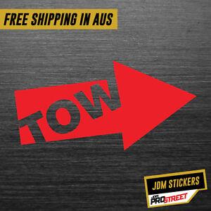 TOW-JDM-CAR-STICKER-DECAL-Drift-Turbo-Euro-Fast-Vinyl-0150