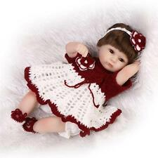 Nicery Reborn Baby Doll Soft Silicone 18in. 45cm Toy Red Girl Boy Eyes Open