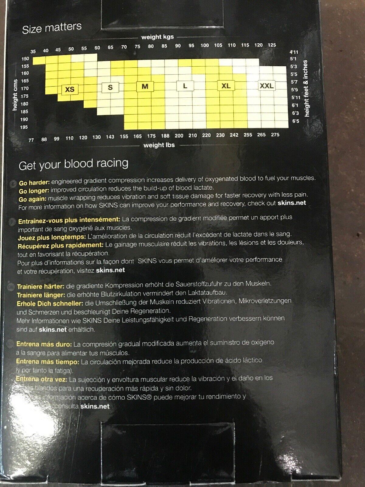 SKINS A200 Men/'s Compression Half Tights black//fierce red B60121002