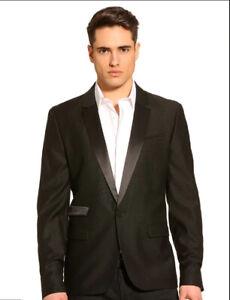 New-with-Tags-Guess-Men-039-s-Shiny-Lapel-Blazer-Formalwear-Jacket-Tux-Blazer-Medium