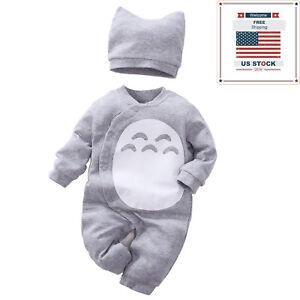 bfd4f800e56c Newborn Kid Baby Boy Girl Clothes Jumpsuit Romper Bodysuit Playsuit ...