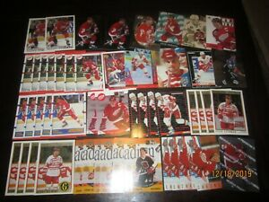 Huge-Lot-of-50-Steve-Yzerman-Hockey-Cards-Red-Wings