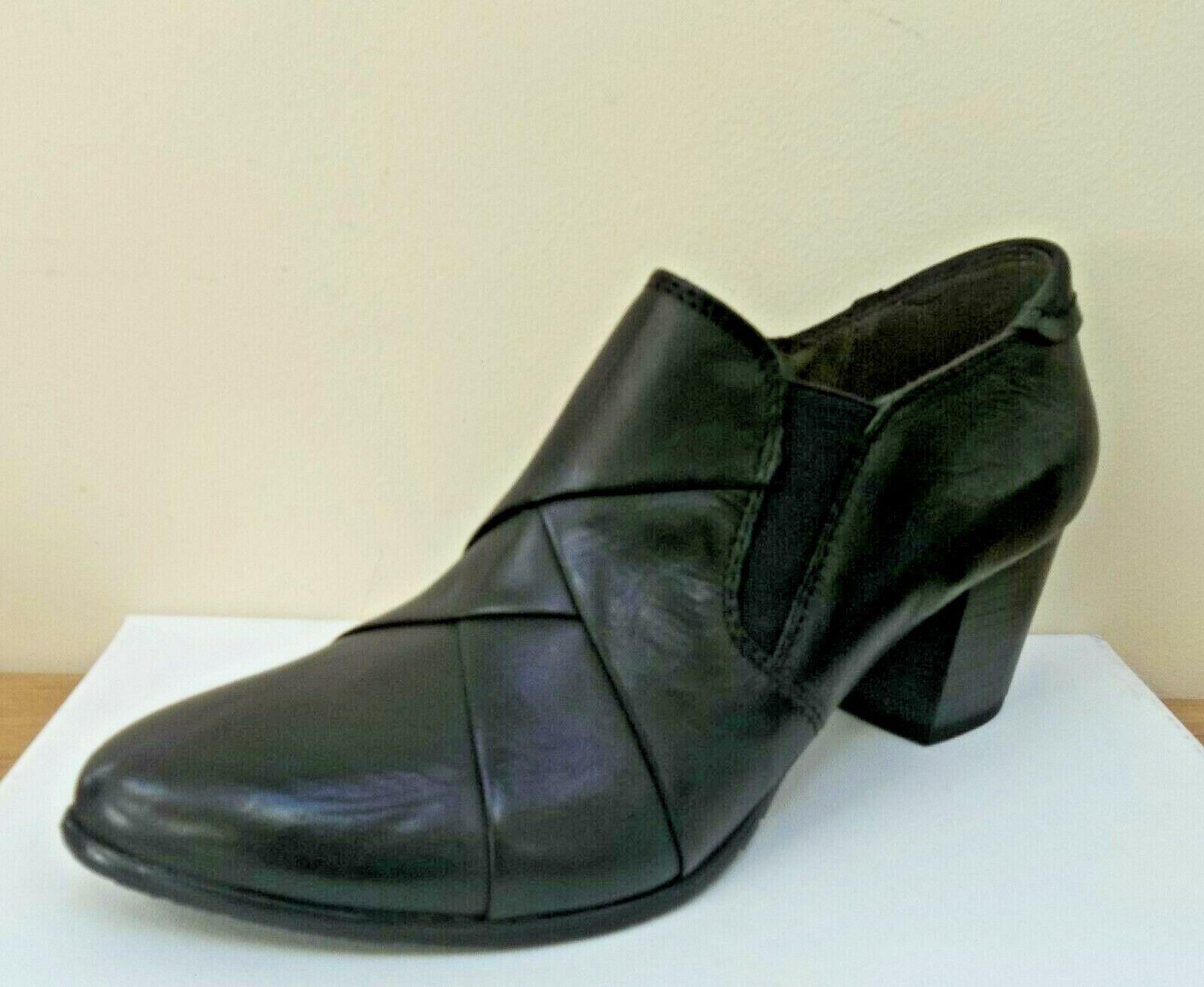 Caprice noir leather chaussures bottes, UK 6 EU 39,   BNWB