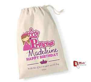 Image Is Loading PERSONALISED BIRTHDAY GIFT BAG PRINCESS DESIGN ANY WORDING