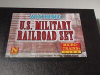 Micro-trains 993 01 270 U.s. Military Railroad Set Weathered Bigdiscounttrains