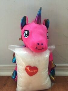 Make your own stuffed WINGED UNICORN. Includes everything you need, no sewing!