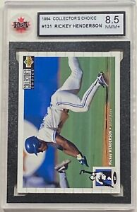 1994 UPPER DECK BASEBALL #131 RICKEY HENDERSON MLB HOF BLUE JAYS KSA 8.5 NMM+