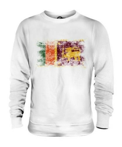 SRI LANKA DISTRESSED FLAG UNISEX SWEATER TOP SRI LANKA FOOTBALL LANKAN SHIRT