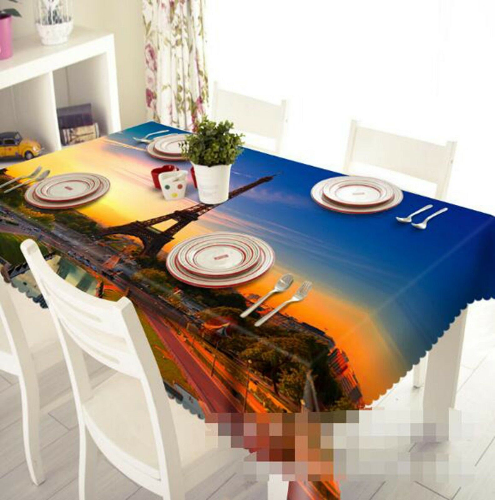 3D Sunset Tower 021 Tablecloth Table Cover Cloth Birthday Party Event AJ Lemon