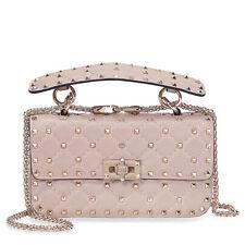 Valentino Rockstud Spike Small Chain Bag - Powder Pink