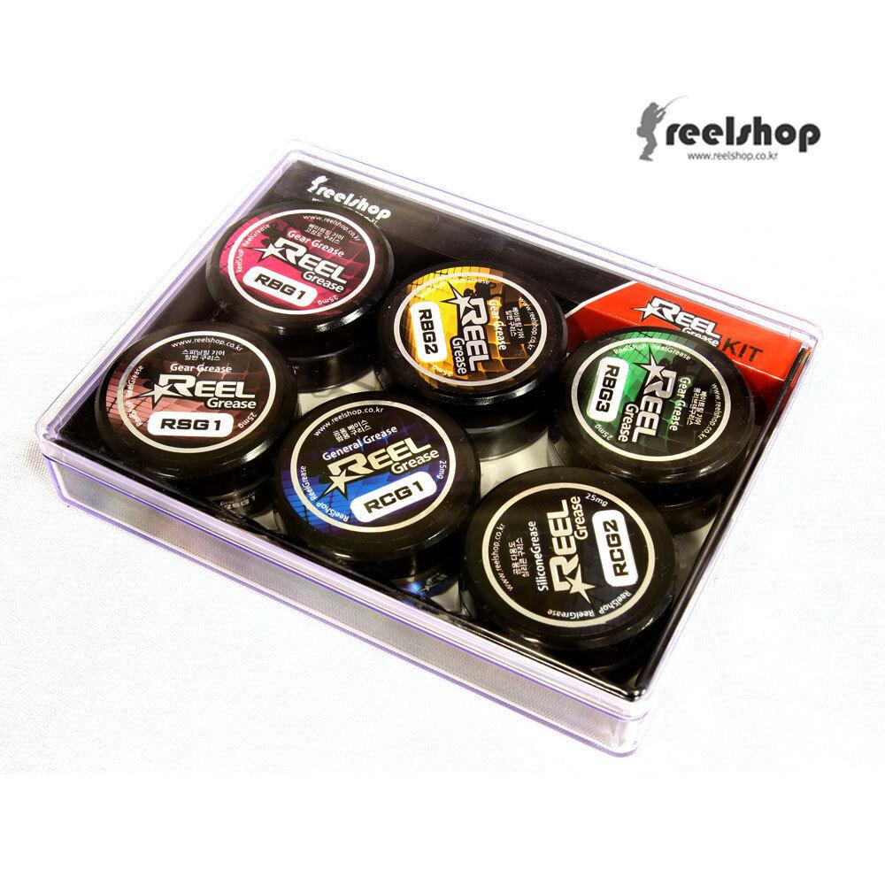 REELSHOP Reel Grease Kit 6 Spinning Baitcasting Reels Greaser Made in Korea