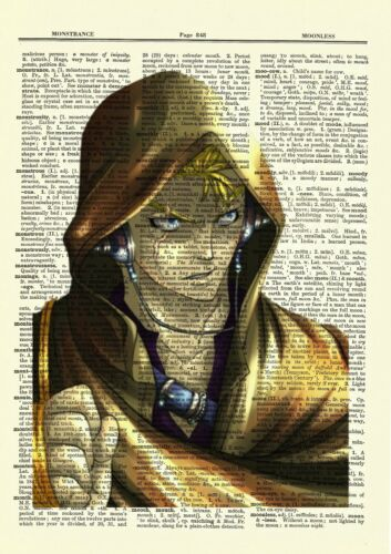 Laxus Fairy Tail Anime Dictionary Art Print Poster Picture