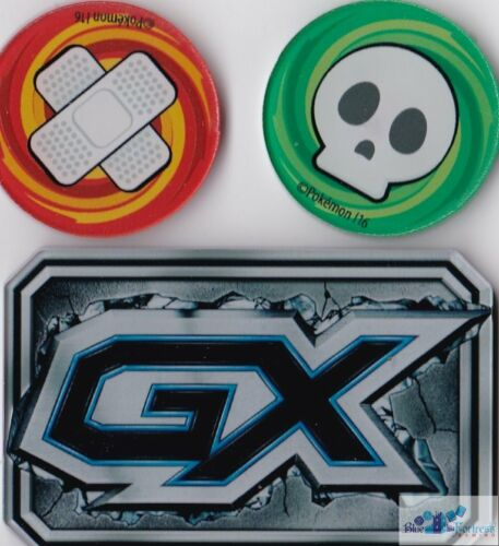 GX Poison /& Burned acrylic counters markers for Pokemon TCG CARDS sealed NEW