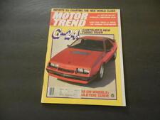 Motor Trend Dec 1982 Lamborghini Jalpa Turbo Tiger G 24 Id20591