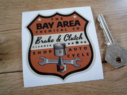 Bay area shop auto cycle shield classic car sticker 3 hot rod bike americana