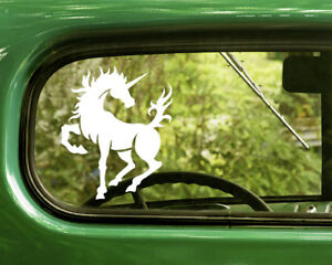2 UNICORN DECALs Oval Stickers For Car Window Truck Bumper Laptop Jeep RV