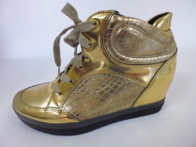 Ara talla 4,5 (37,5) ancho h zapatos botines botines botines de cuero oro  mejor reputación