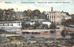 Manaus-Brazil-Cachoeira-Grande-Birdseye-View-Antique-Postcard-K96823