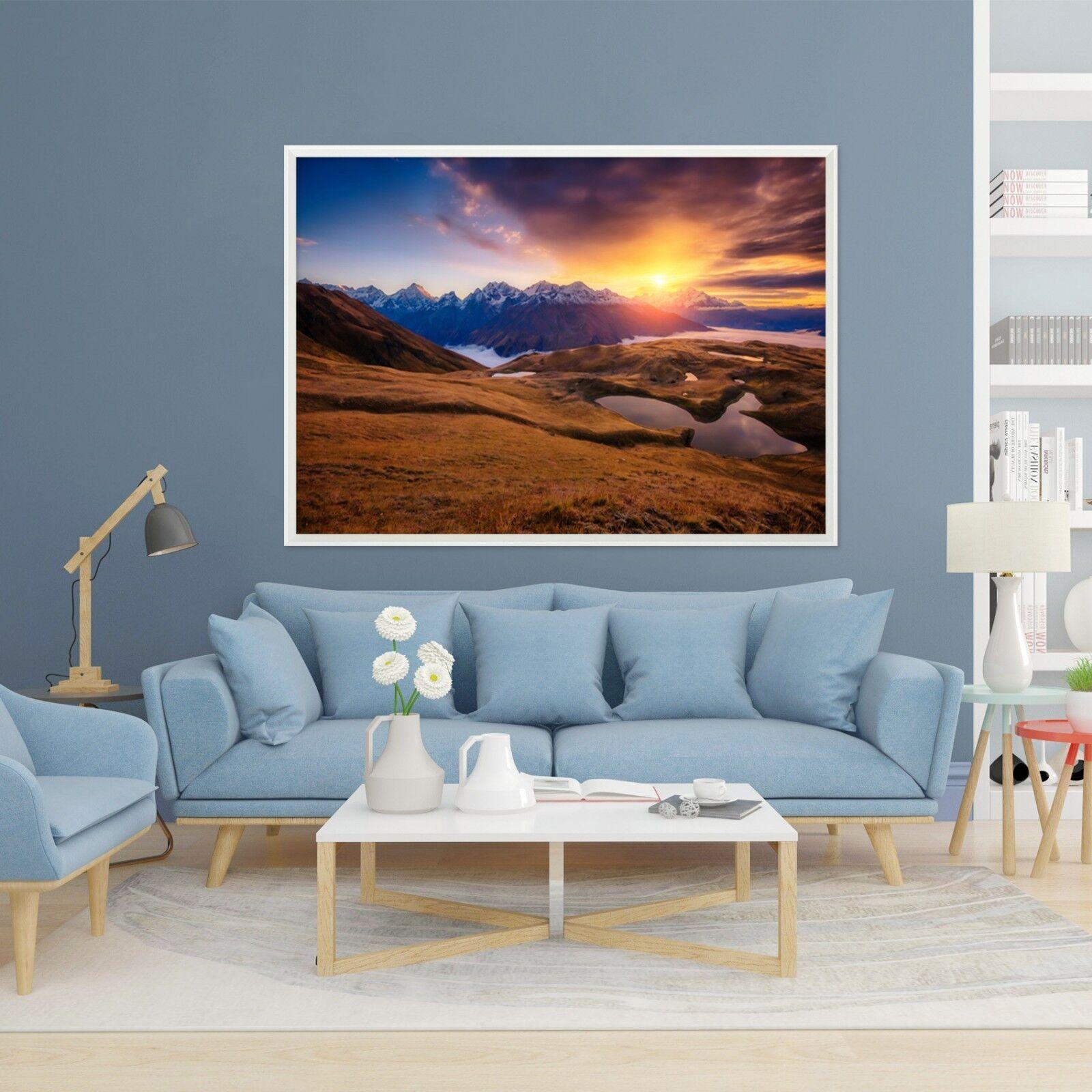 3D Sunset Field 67 Framed Poster Home Decor Print Painting Art AJ WALLPAPER