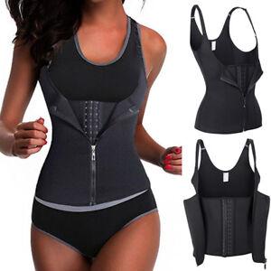 2779666ee4 Waist Trainer Trimmer Belt Wrap Stomach Fat Burner Shaper Gym Vest ...