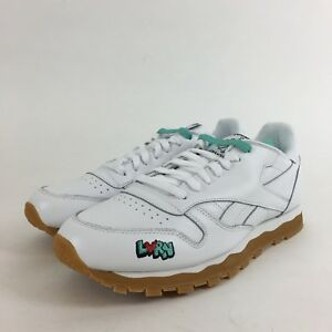 Reebok Classic Leather 3AM DV4707 White Red Gum Mens US 9.5 NEW ... 2e6bc51d7