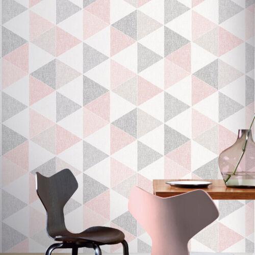 Arthouse Scandi Chic-Triangles Papier Peint-Rose D/'Angles Décor 908204
