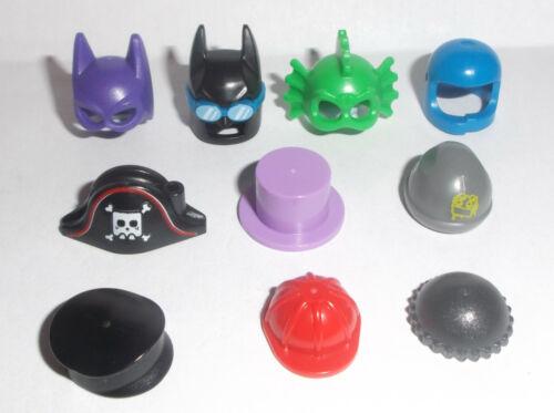 Lego Minifig Mixed Hats x 10 Headgear Helmets
