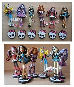 Set-lotto-6-pupazzi-Monster-High-serie-completa-Comansi-cm-10