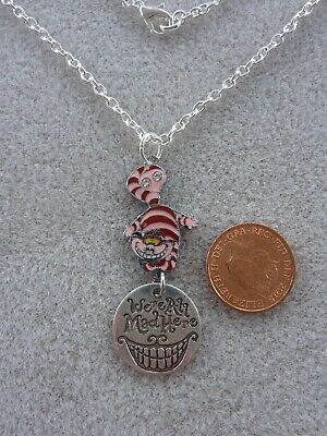 Cheshire Cat Smile necklace men and women Accessories Cheshire cat necklace We/'re All Mad Here pendant with chain