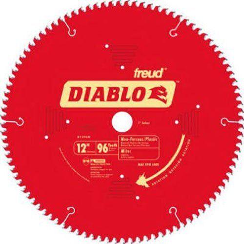 Freud-Diablo 12 96Tth TCG Non-Ferrous Metal&Plastic Cutting Miter Saw Blade