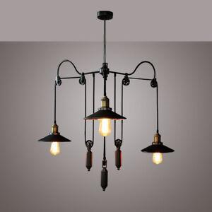 Retro-Vintage-Pulley-Adjustable-Hanging-Ceiling-Light-3-Way-Mirror-Lamp-Shade