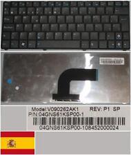 Clavier Qwerty Espagnol ASUS N10 N10E N10J 1101HA V090262AK1 04GNS61KSP00-1 Noir