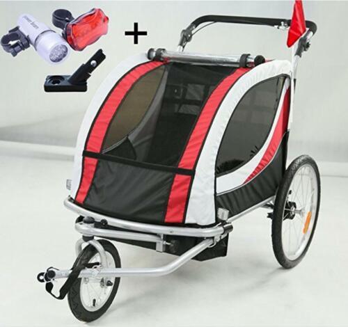 Stylehome® Kinderanhänger Fahrradanhänger 2 in 1 Jogger Buggy Fahrrad Anhänger