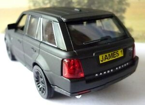 Details About Personalised Plate Matt Black Range Rover Sport Boys Dad Toy Model New